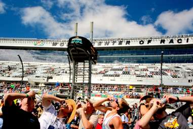 Chugging beers at Daytona 500