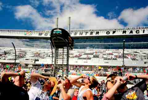 Chugging beers at Daytona 500