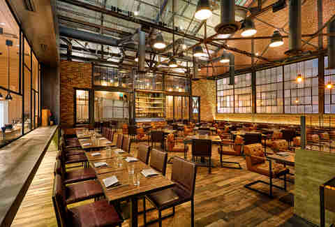 The interior of Officine Brera, Los Angeles