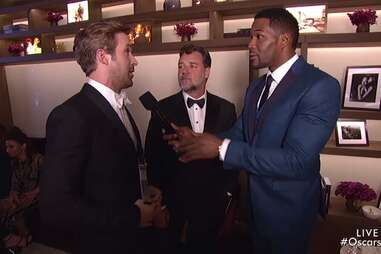 Ryan Gosling, Russell Crowe, Michael Strahan at the Oscars