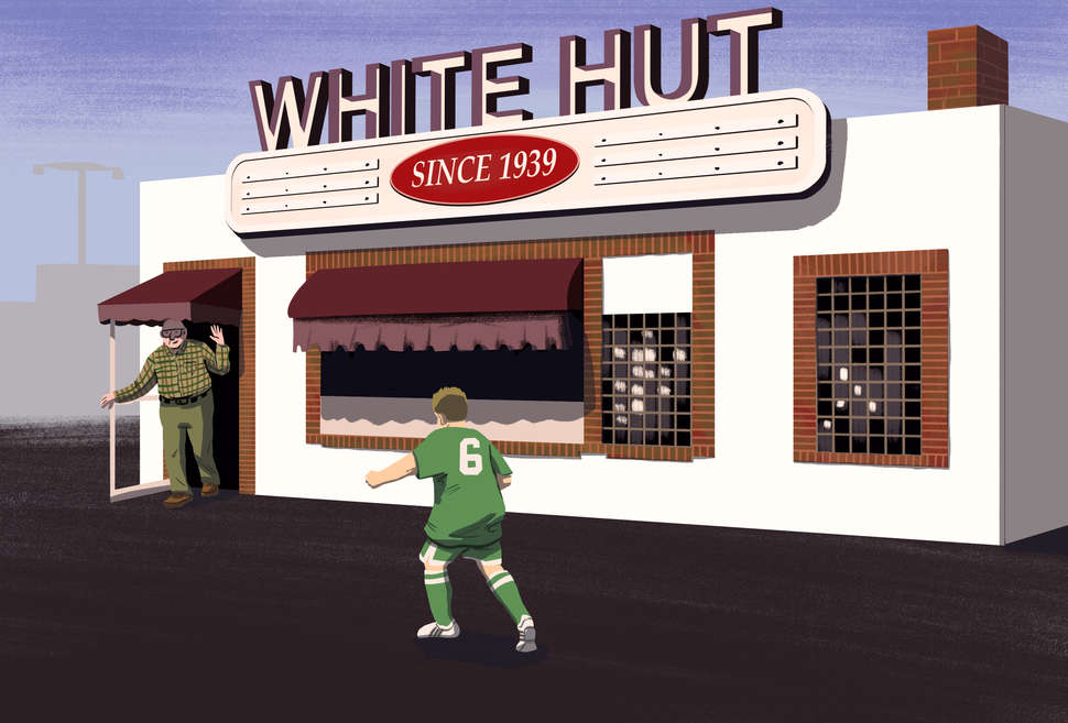 An Illustration of The White Hut