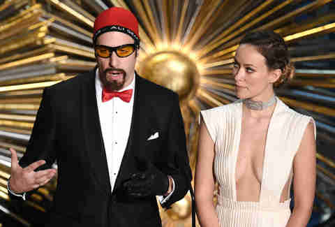 Ali G and Olivia Wilde at the Oscars