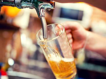 beer, tap, beer glass