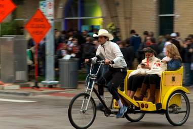 pedicab driver in Austin, Texas