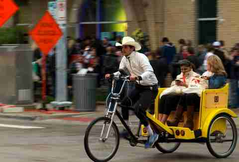 pedicab driver in Austin, Texas