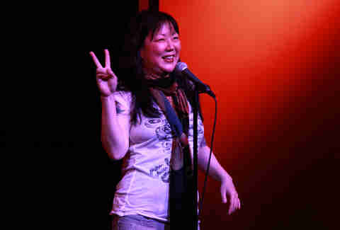 Margaret Cho performing at Atlanta's Laughing Skull Lounge comedy club