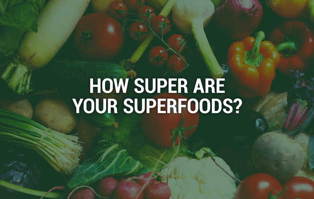 This Infographic Shows How Nutritious 'Superfoods' Really Are