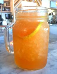 Iced Relx tea at Dirt Miami