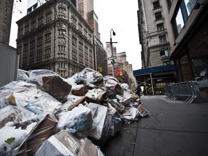 trash in new york city