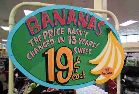 bananas at Trader Joe's