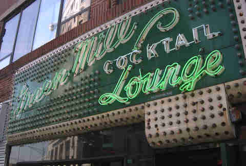 Green Mill cocktail lounge chicago exterior sign