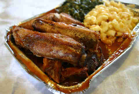 M & M Ribs barbecue in Roxbury/Dorchester, Massachusetts