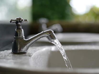 Faucet left running