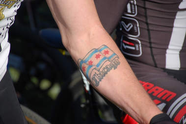 chicago tattoo, chicago flag tattoo