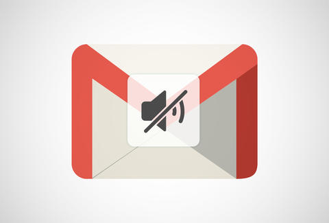 Gmail logo with mute symbol