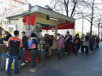 Mustafa's doner kebab in Berlin, Germany