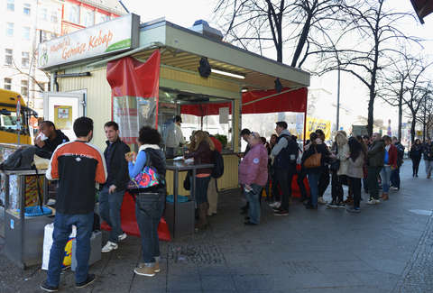 Mustafa's doner kebab in Berlin, Germany