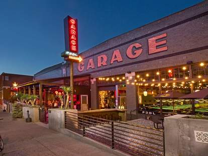 exterior of garage billiards seattle capitol hill bowling