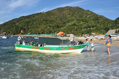 Water taxi in Yelapa, Mexico
