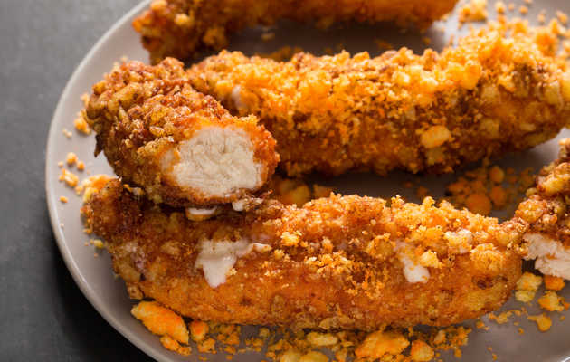 Mozzarella-Stuffed Cheetos Chicken Fingers Are Dangerously Cheesy