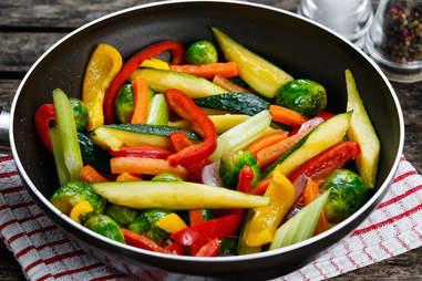 cooked vegetables, vegetables, veggies