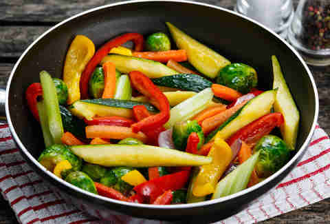 cooked vegetables, vegetables, veggies