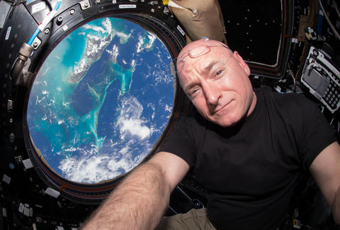 scott kelly aboard the ISS