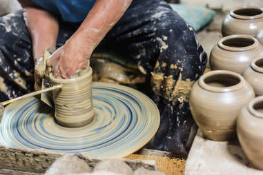 pottery making clay
