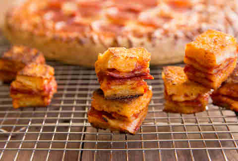 pizza croutons