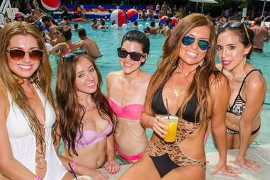 Miami pool party