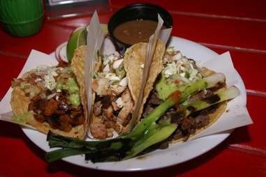 Mexicali Taco chicken taco close up
