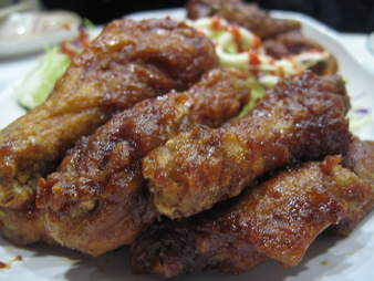 kyochon combo chicken wings close up