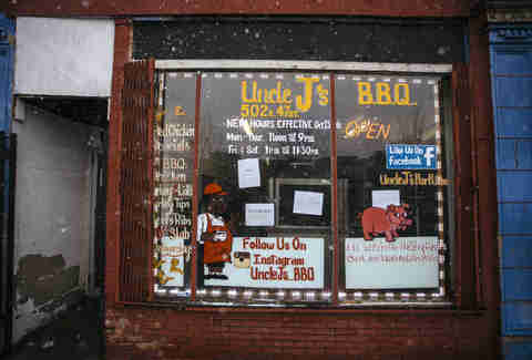 Uncle J's barbecue exterior Chicago best BBQ