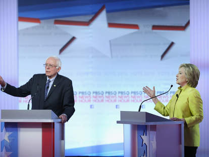 Hilary Clinton and Bernie Sanders Presidential Debate 2016