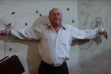 Escape From New York, President tied up, Donald Pleasence