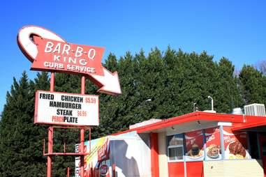 Outside signage of Bar-B-Q King