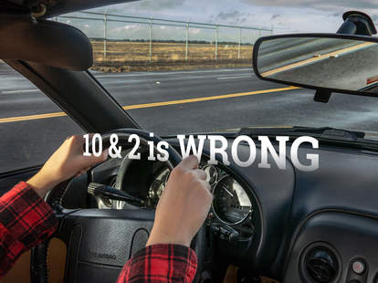 10 & 2 steering wheel hand position