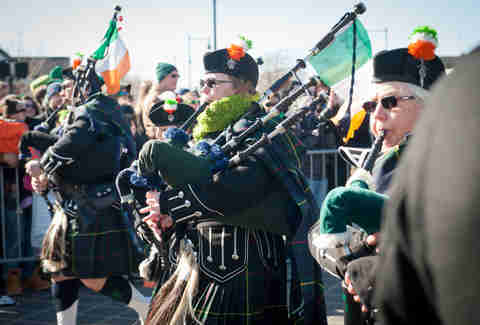 St. Patrick's Day Parade bagpipe Boston