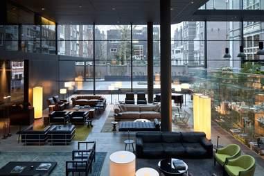 interior of conservatorium hotel bar area