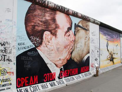 East Side Gallery street art in Berlin, Germany