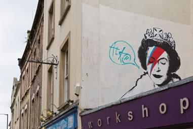 Banksy street art in Bristol, England