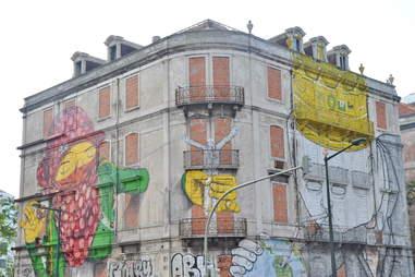 Crono project street art in Lisbon, Portugal