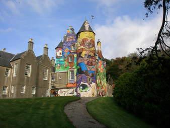 Kelburn Castle art in Scotland