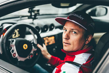 Kimi Raikkonen, just wanting to drive a car at a media event.