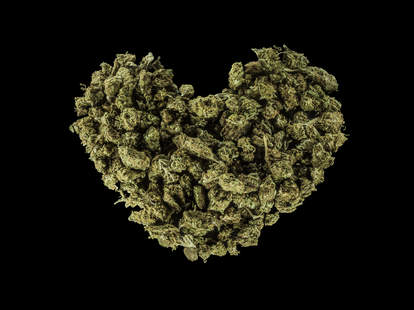 weed in the shape of a heart