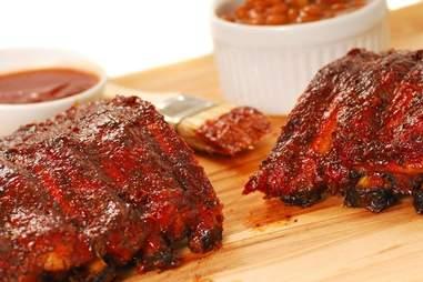 Freshly BBQed meat