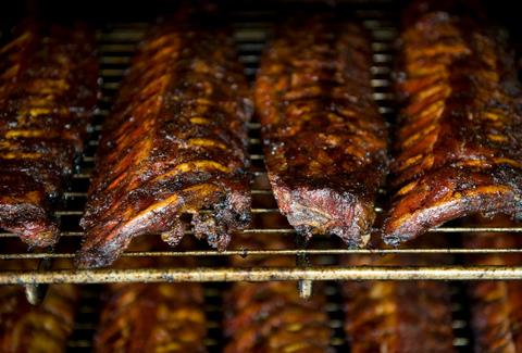 Racks of ribs at Squealers Barbeque