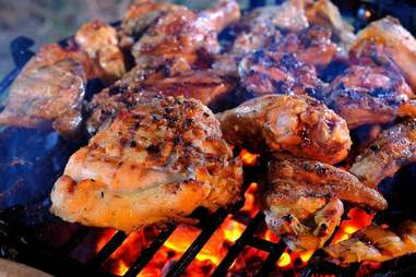BBQ chicken at King Ribs