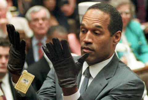 O.J. Simpson at the 1995 murder trial