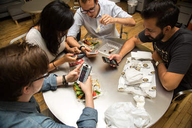 Using your phone during meals
